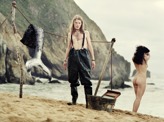 Elena Zhukova photography mermaid sheds her tail - mythical concepts David J Rodger