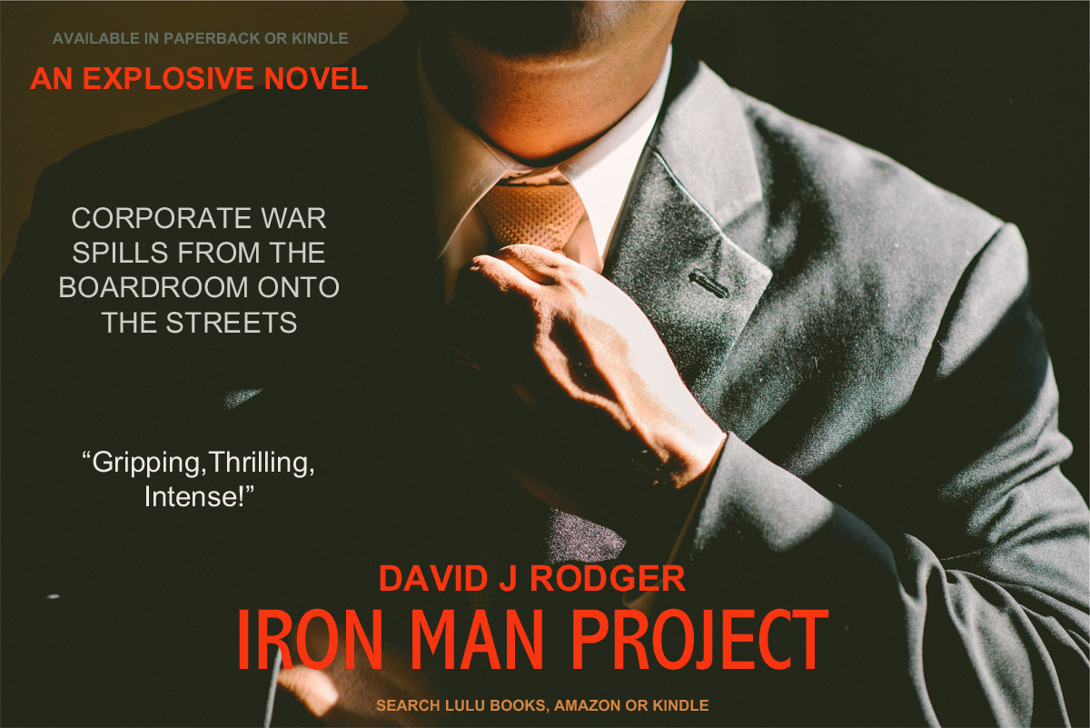 Iron Man Project Cyberpunk Sci Fi book by David J Rodger
