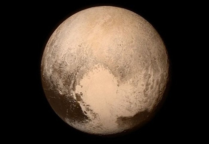Pluto photo captured by New Horizons July 13 2015 featuring dark, whale-shaped splotch  named after Cthulhu