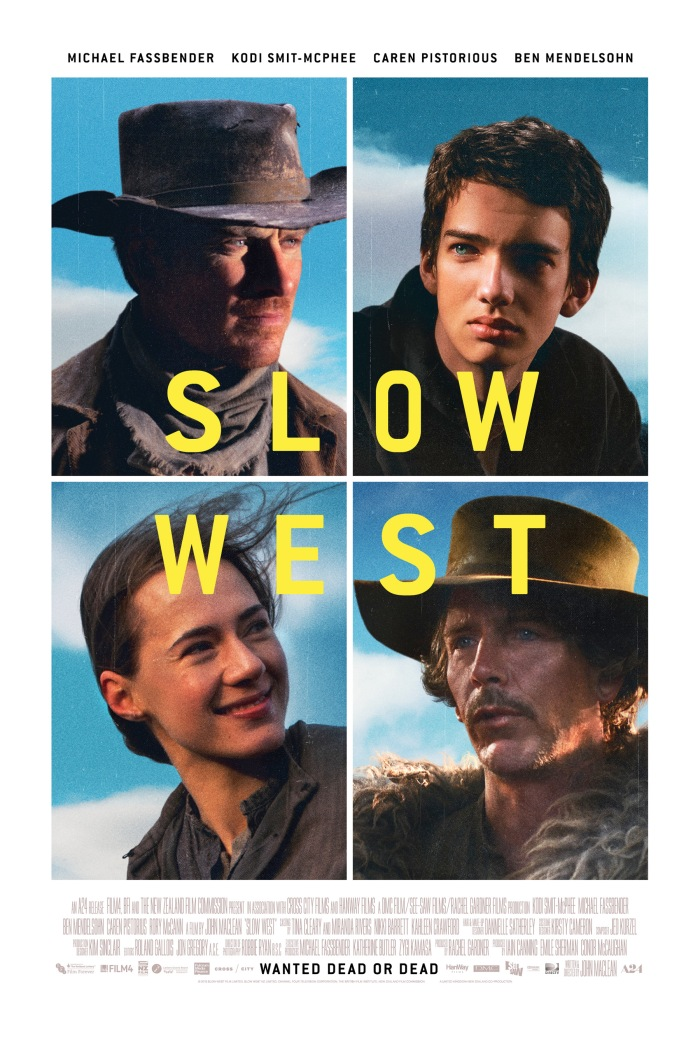 Slow West (2015) poster Michael Fassbender, Ben Mendelsohn, Kodi Smit-McPhee, Caren Pistorius - fantastic indie film 5 star movie