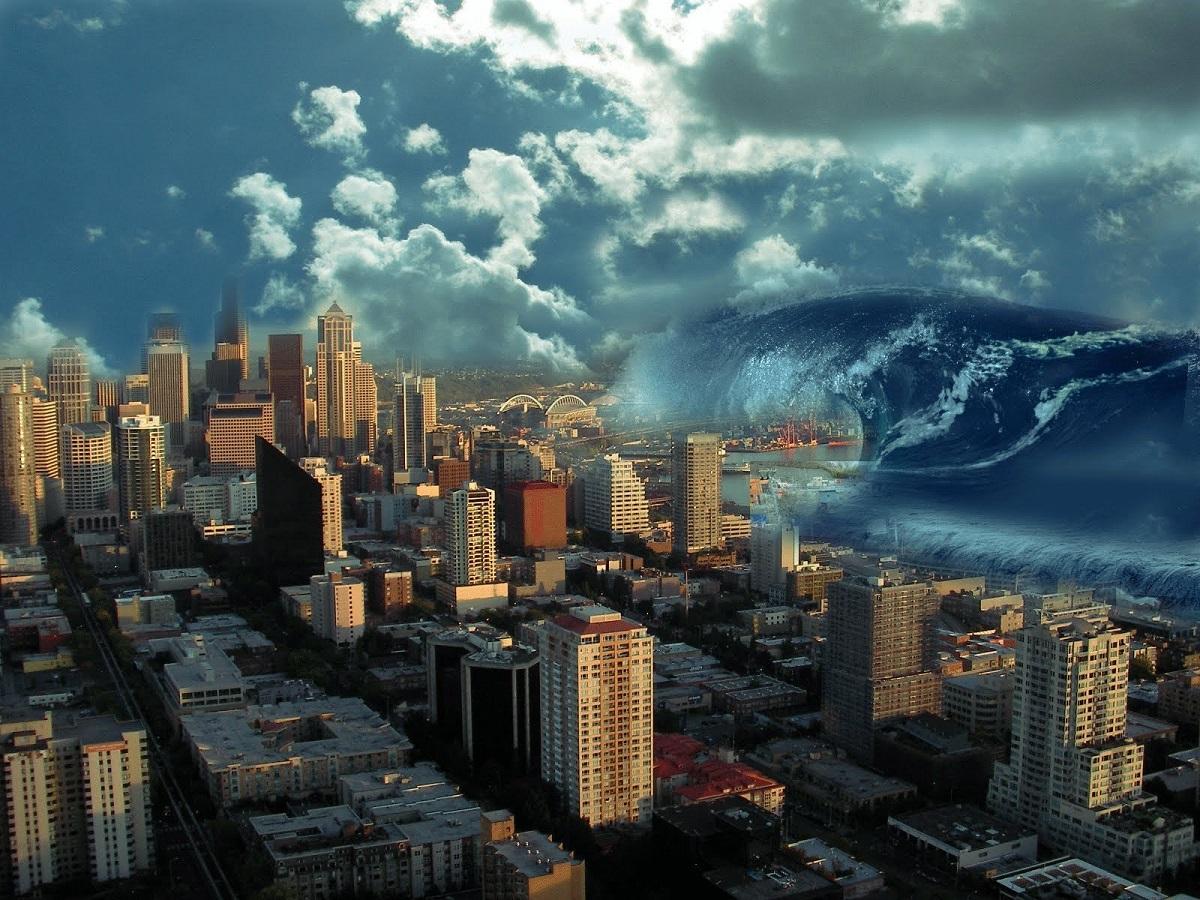 tsunami strikes Northwest US coastal city