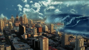tsunami strikes Northwest US coastal city